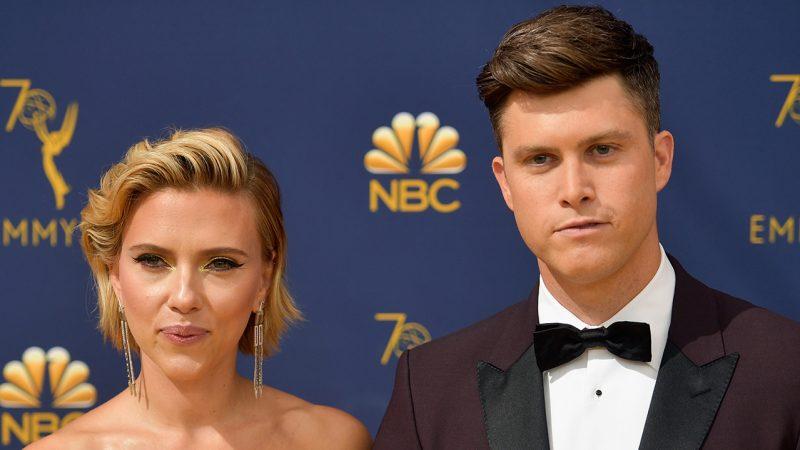 Scarlett Johansson bị chồng Colin Ghost kéo lại trong bài phát biểu của MTV Movie & TV Awards