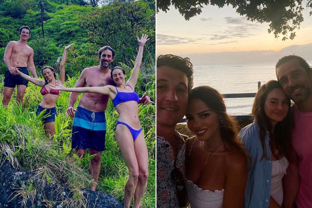 Aaron Rodgers đến Hawaii với Shailene Woodley, Miles Teller
