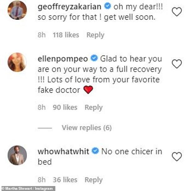 PHỤC HỒI: Ngôi sao Giải phẫu của Grey, Elaine Pompeo nói thêm, 'Rất vui khi biết bạn đang trên đường hồi phục hoàn toàn !!!  Rất nhiều tình yêu từ bác sĩ giả yêu thích của bạn