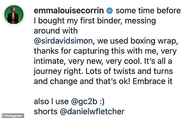 SAU: Tiết lộ những bức ảnh chụp nhanh được chụp trước khi cô ấy mua trang bìa đầu tiên của mình, Emma nói: `` Đôi khi trước khi tôi mua bìa đầu tiên của mình, gây rối với @sirdavidsimon '
