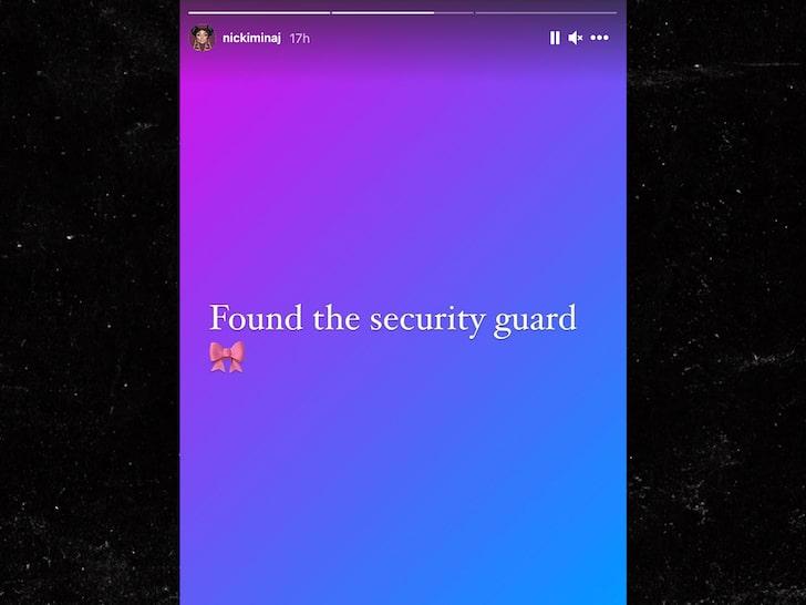 Nicki Minaj tìm thấy một nhân viên bảo vệ