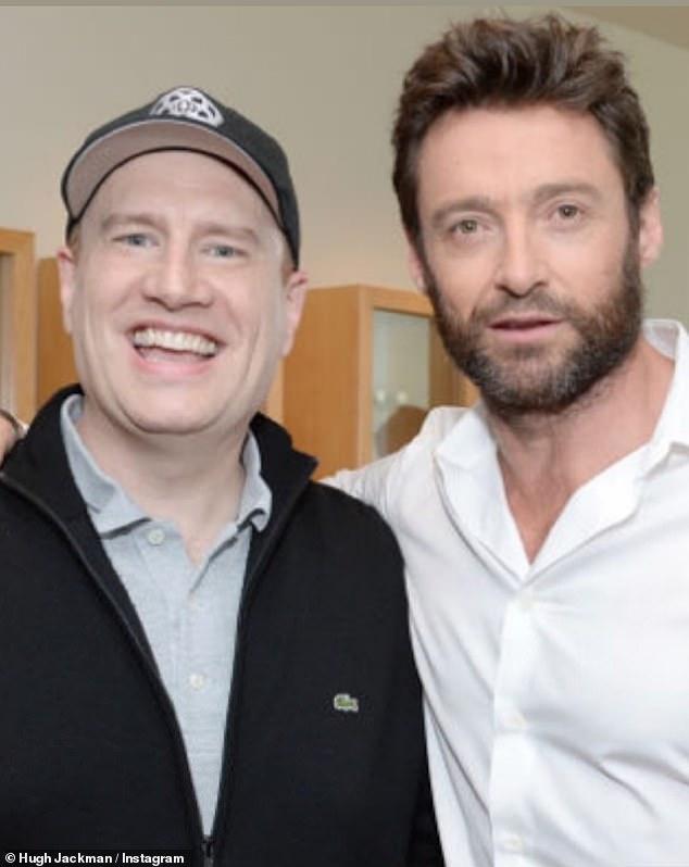 Người hâm mộ điên cuồng: Hugh Jackman, 52 tuổi, đã làm dấy lên suy đoán rằng anh ấy sẽ đóng lại vai Wolverine / Logan trong một dự án mới của Marvel bằng cách đăng một bức ảnh của anh ấy với ông chủ Marvel Kevin Feige