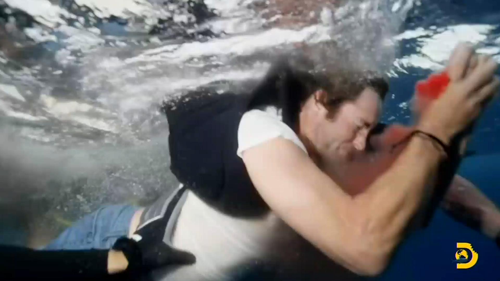 Màn đóng thế lừa nguy hiểm của Shark Week kết thúc bằng một cú cắn đẫm máu của cá mập