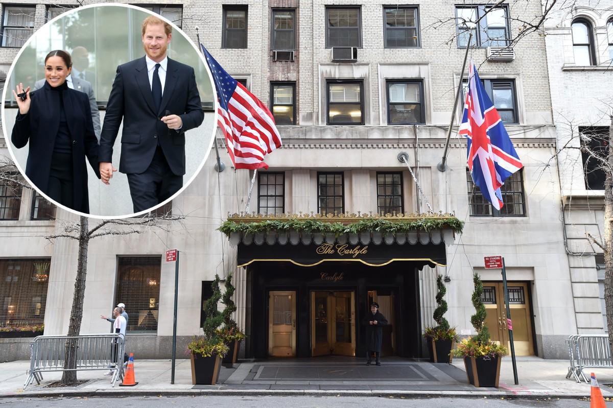 Hoàng tử Harry, Meghan Markle nhận phòng khách sạn yêu thích của Diana ở thành phố New York