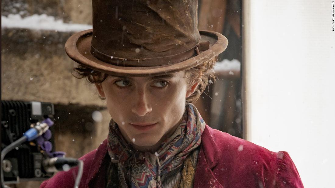 Timothée Chalamet chia sẻ những bức ảnh đầu tiên của mình với tư cách là Willy Wonka